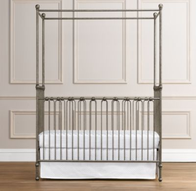 Martine Iron Canopy Crib 750 Not Including Mattress