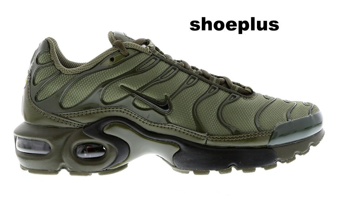 "In bocca al lupo quattro volte marca  Nike Air Max Plus Tuned 1 Tn ""Olive Green"" Unisex Trainer Limited Edition 
