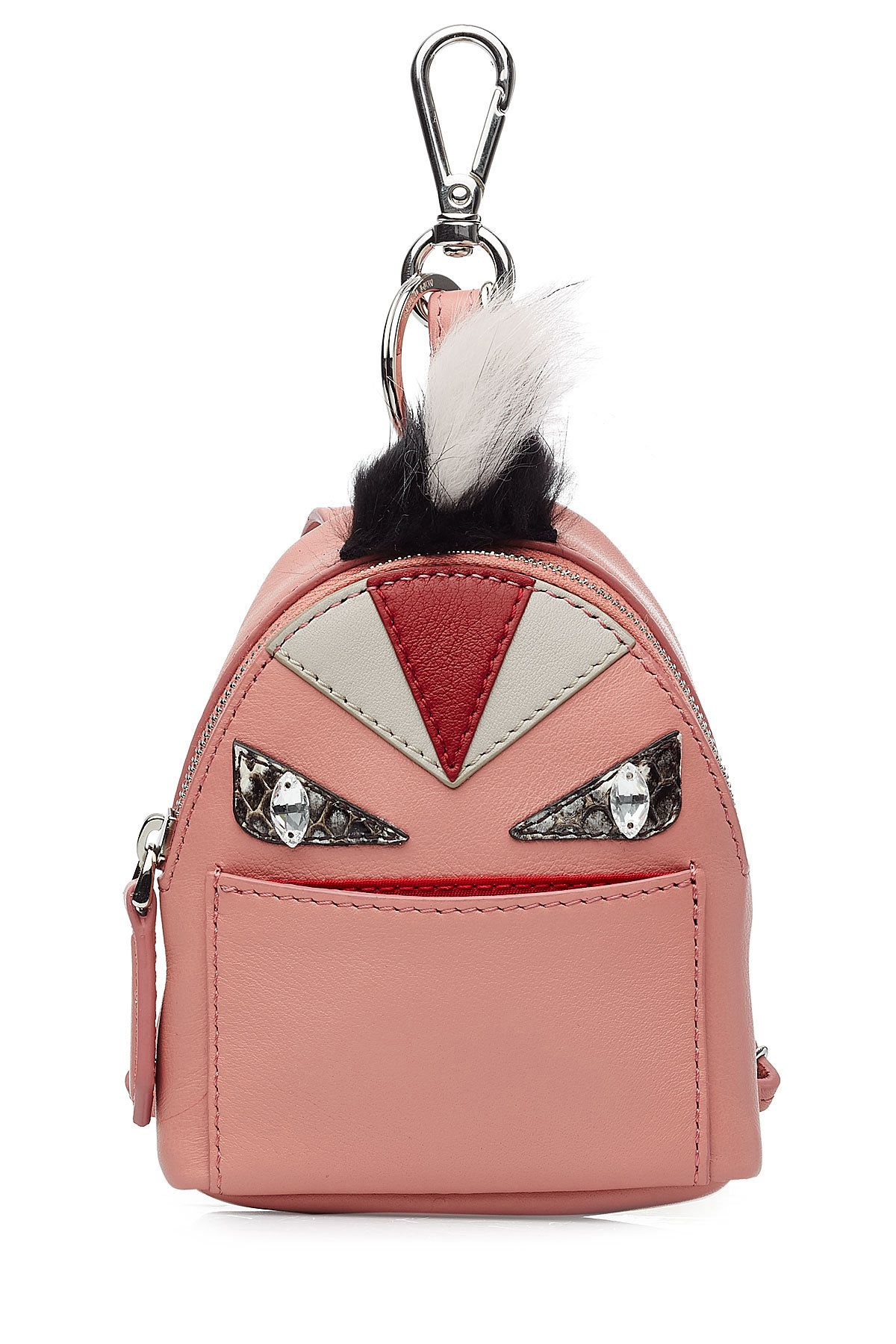 fb4dbc98 Fendi Leather Backpack Charm with Fox Fur | Designer (Latest) in ...
