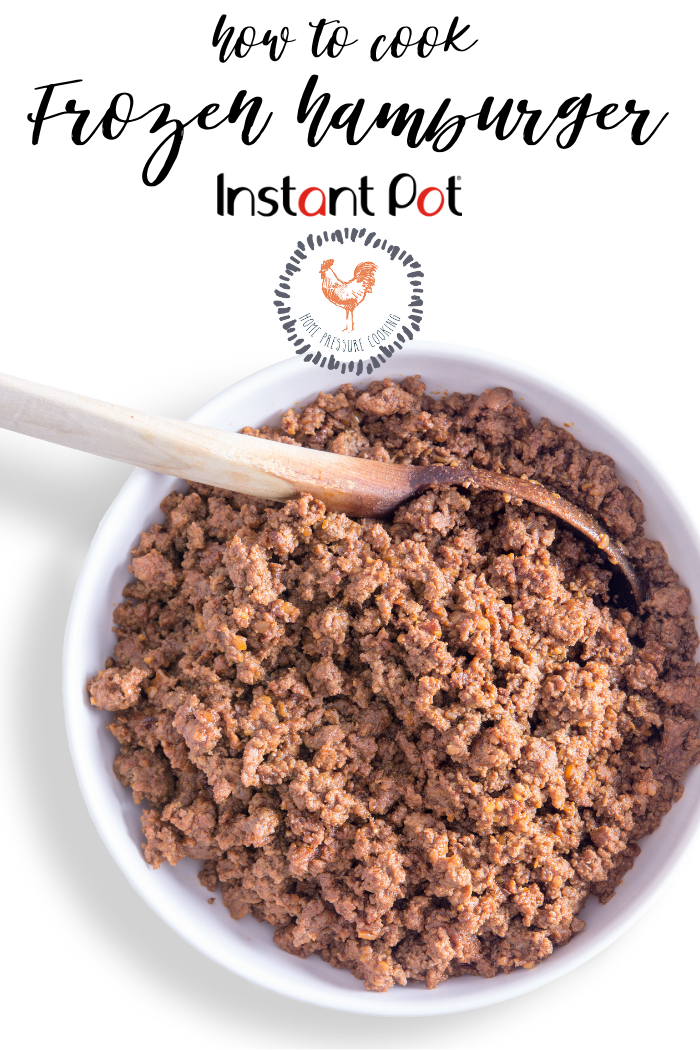 Can I cook frozen ground beef in the Instant Pot? | Best ...