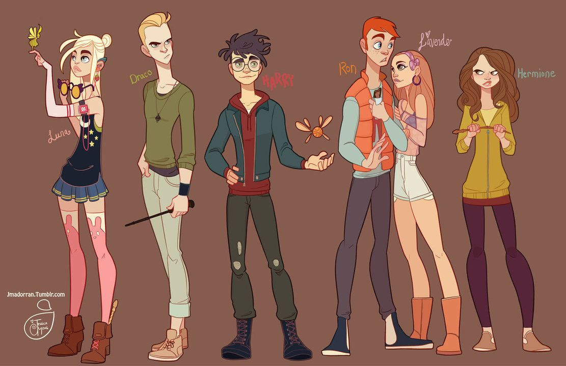 Harry Potter Crew Fan Art by MeoMai on DeviantArt Streetclothes AU