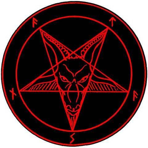 Satanic Star Satanism Pinterest Satanic Star Baphomet And Occult