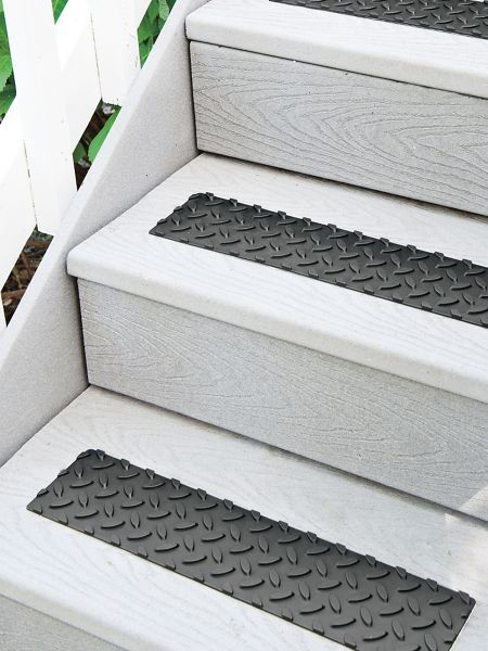 Rubber Safety Treads Set Of 4 Outdoor Stairs Solutions Outdoor Stairs Diy Stairs Stair Treads