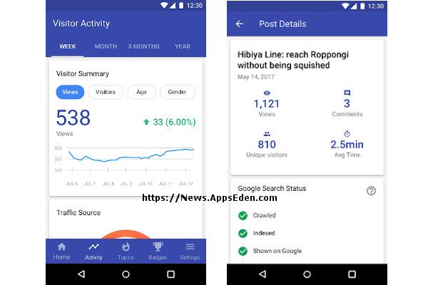 Blog Compass by Google app released for Android App