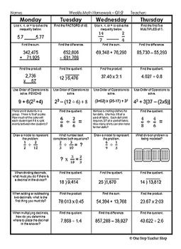 th Grade Math COMMON CORE Assessments  Warm Ups  Task Cards  Error Analysis