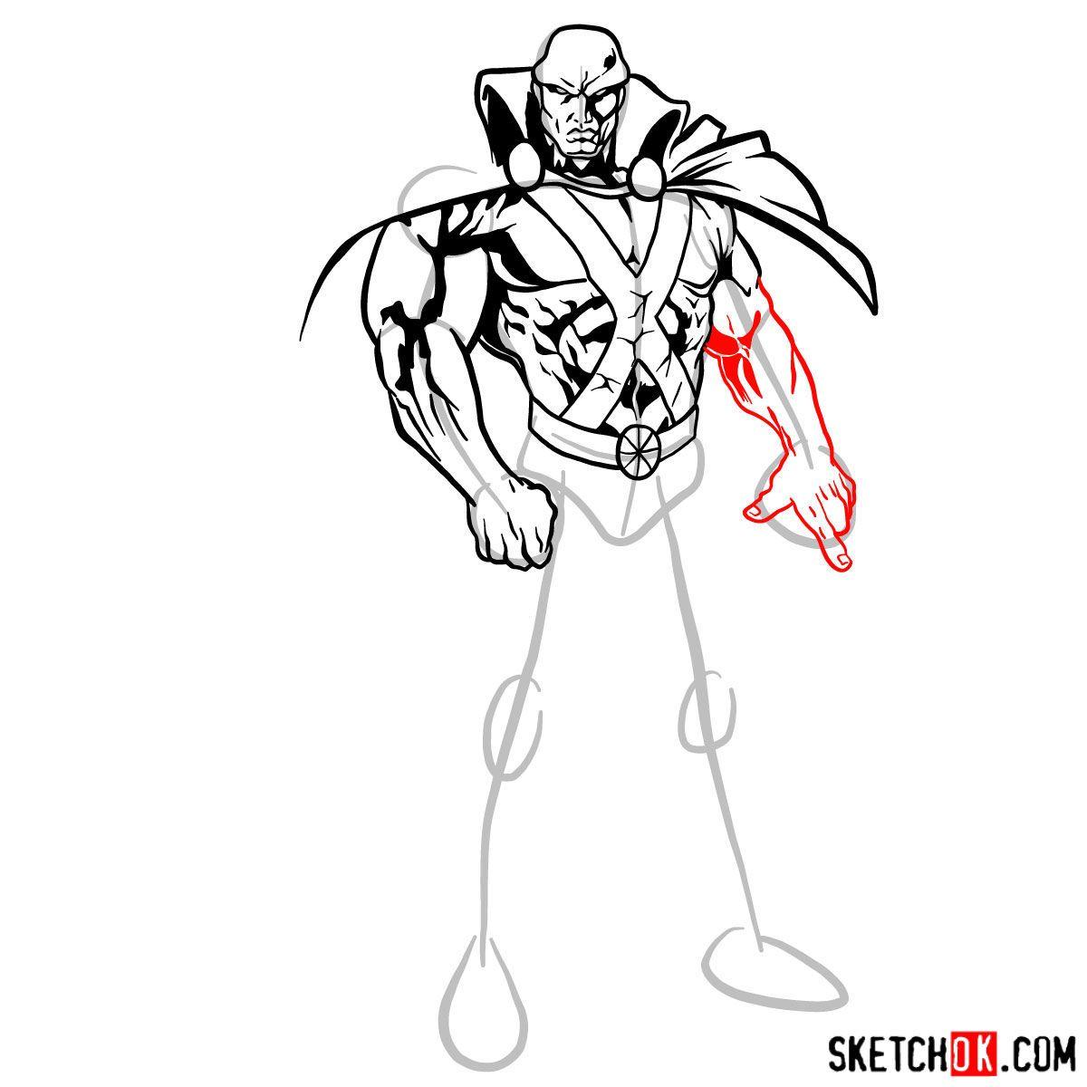 How To Draw The Martian Manhunter Sketchok Step By Step Drawing Tutorials In 2021 The Martian Martian Manhunter Drawings