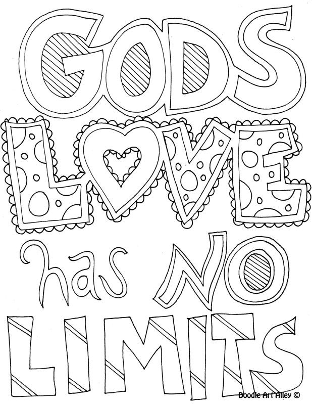 coloring page gods love has no limits
