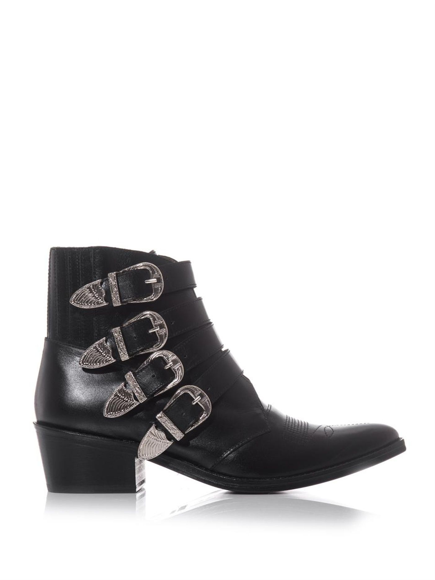 Click here to buy Toga Buckle leather ankle boots at MATCHESFASHION.COM