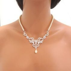 bride necklace - Google Search