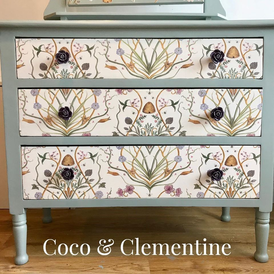 Upcycled vintage chest of drawers