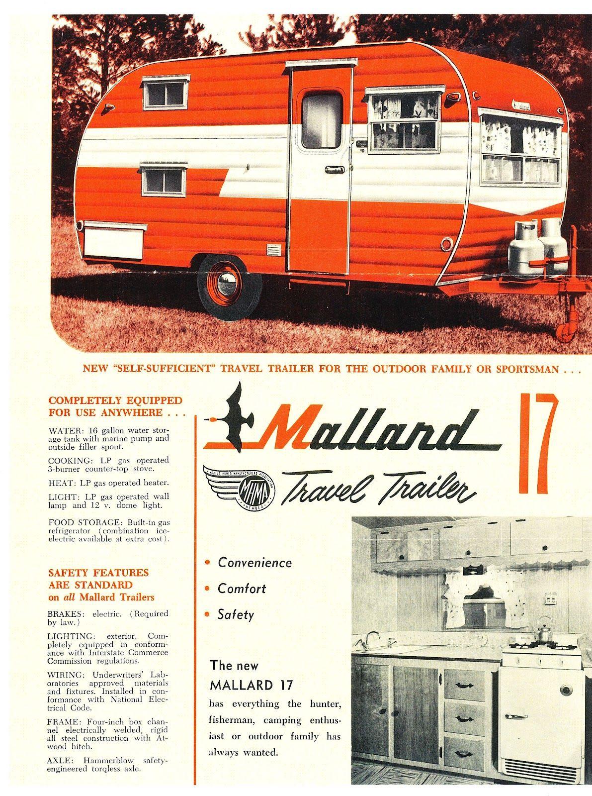 Mallard 17 Vintage Ad Trailerluv Pinterest Caravan Electrical Wiring Regulations