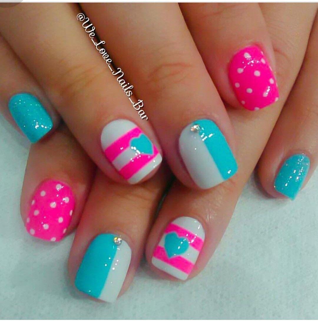 Pin De Adaris Diaz En Diseño De Uñas Girls Nails Nails Y Little