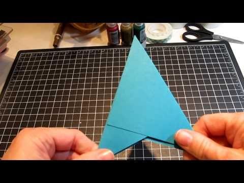 Pyramid Tutorial 001 Mov Christmas Card Tutorials Card Making Tutorials Fancy Fold Cards