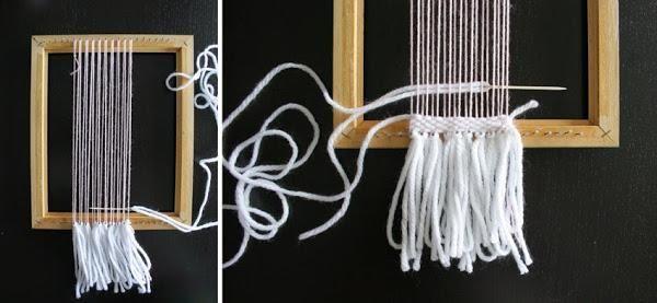 Taller de creactividad: tejiendo en un telar diy | Decorar tu casa es facilisimo.com