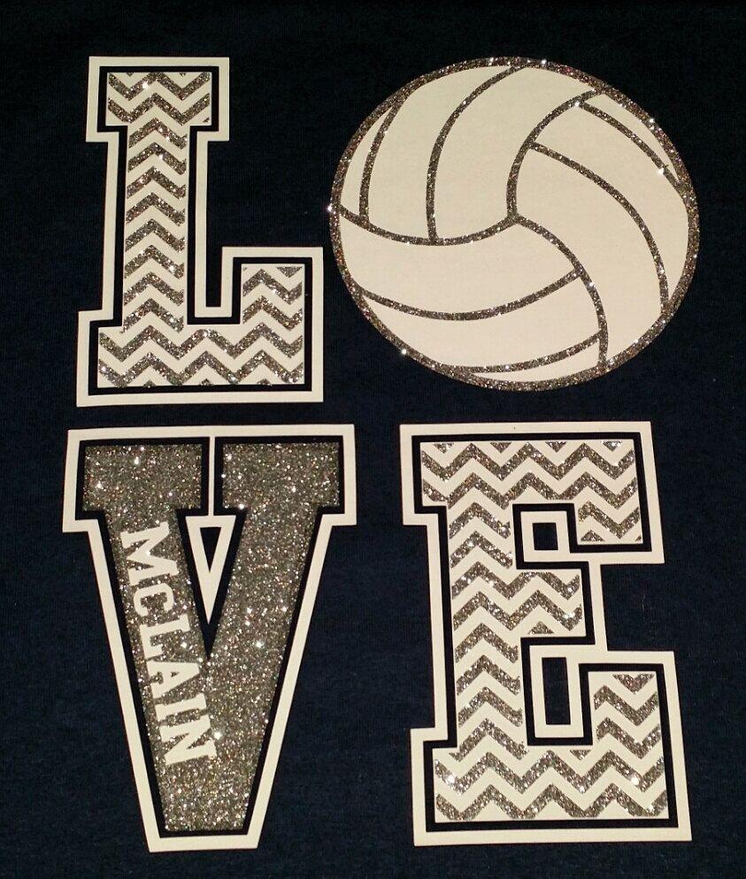 Original Design Glitter Chevron Love Spirit Shirts Volleyball