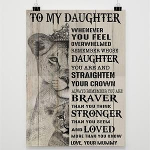 Sunflower poster to my daughter never forget that