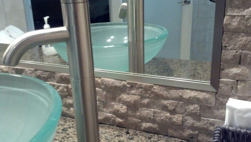 Mirror Framed In Brushed Nickle Aluminum Trim By Delta Glass