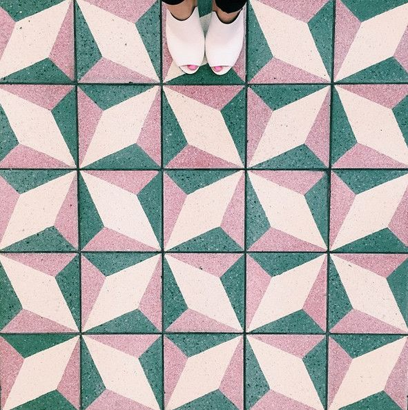 Diamonds Are Forever - Flooring and tile ideas.