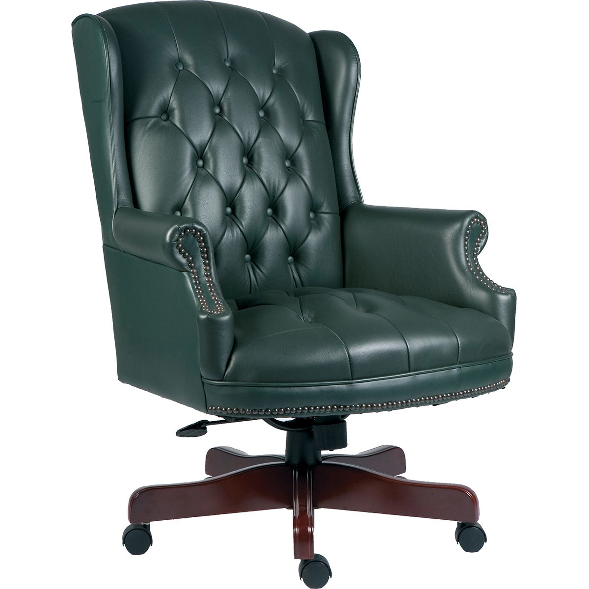 Park Art My WordPress Blog_Green Leather Chair And Ottoman