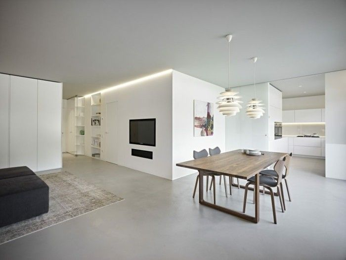 Minimalistisch wohnen 54 einrichtungsideen f r schlichte for Wohnung minimalistisch