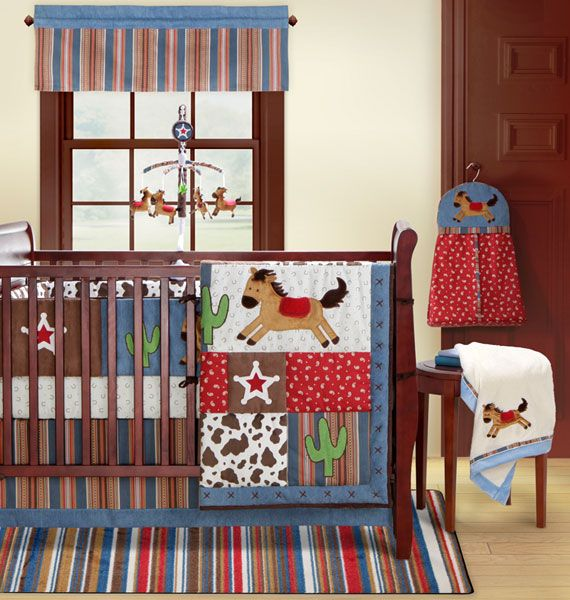 Western Cowboy Bedding On The Bananafish Round Up Baby