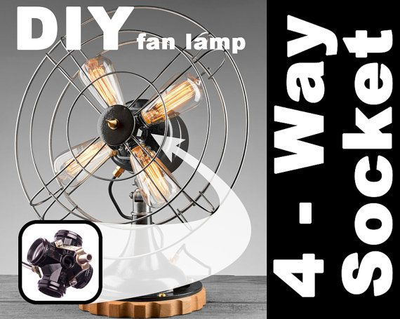 10 Hey I Found This Really Awesome Etsy Listing At Https Www Etsy Com Listing 199436599 Four Way Light Socket Create Fan Lamp Diy Lamp Shade Lamp Socket