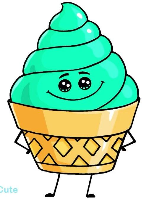 Ice Cream Sevimli Cizimler Cizim Fikirleri Disney Cizimleri