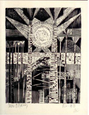 Livio Abramo -  Rio de Janeiro / 1953 - xilografia