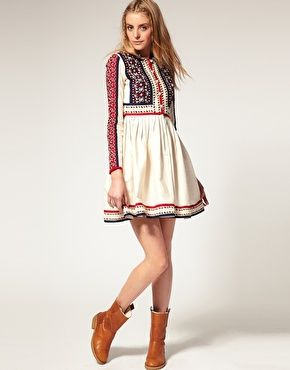 ASOS Embroidered Shirt Dress