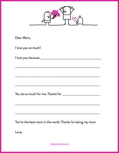 here s a quick mother s day printable letter template teaching