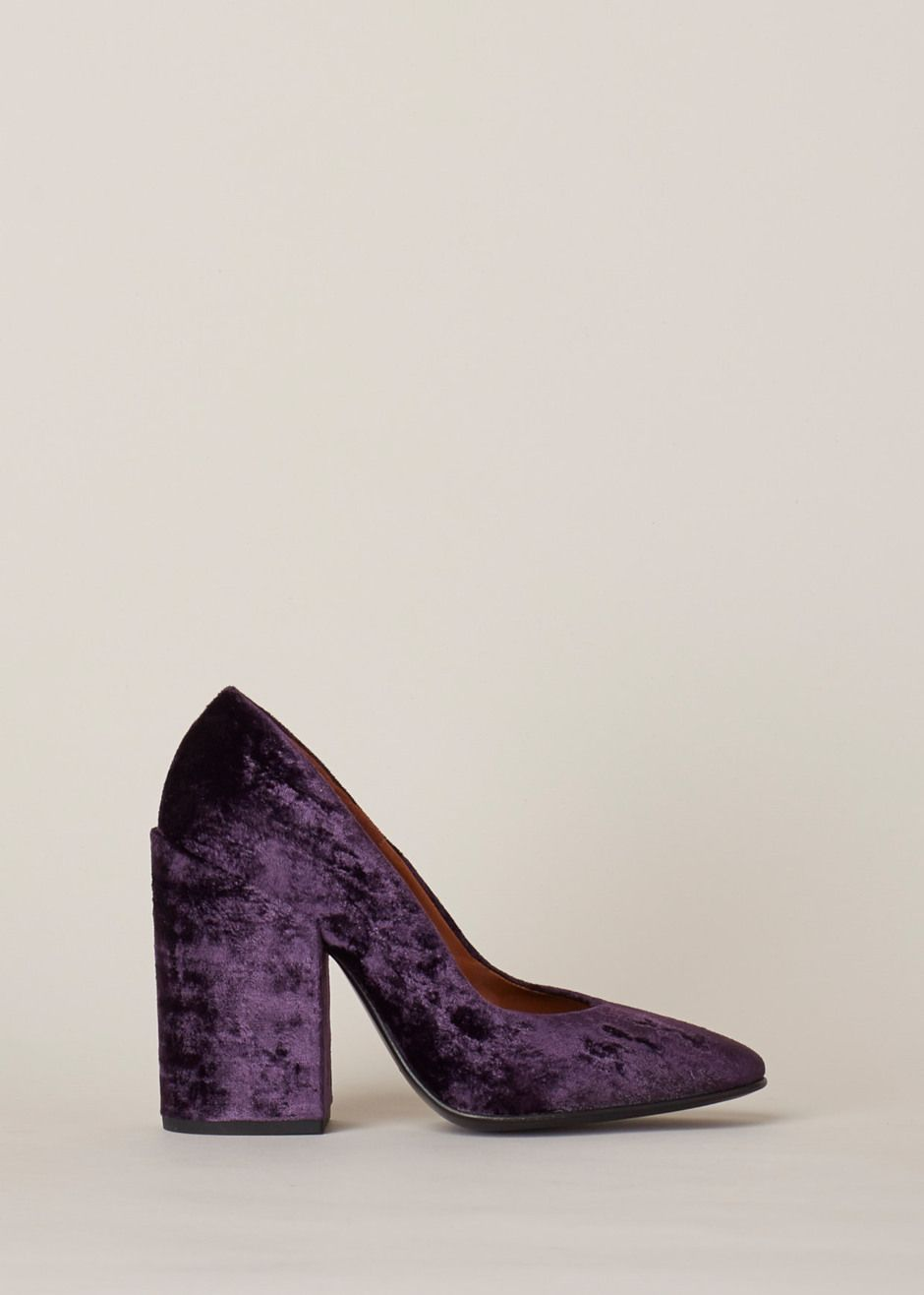 Dries Van Noten Chunky Heel Pump (Purple) | shoes | Pinterest ...