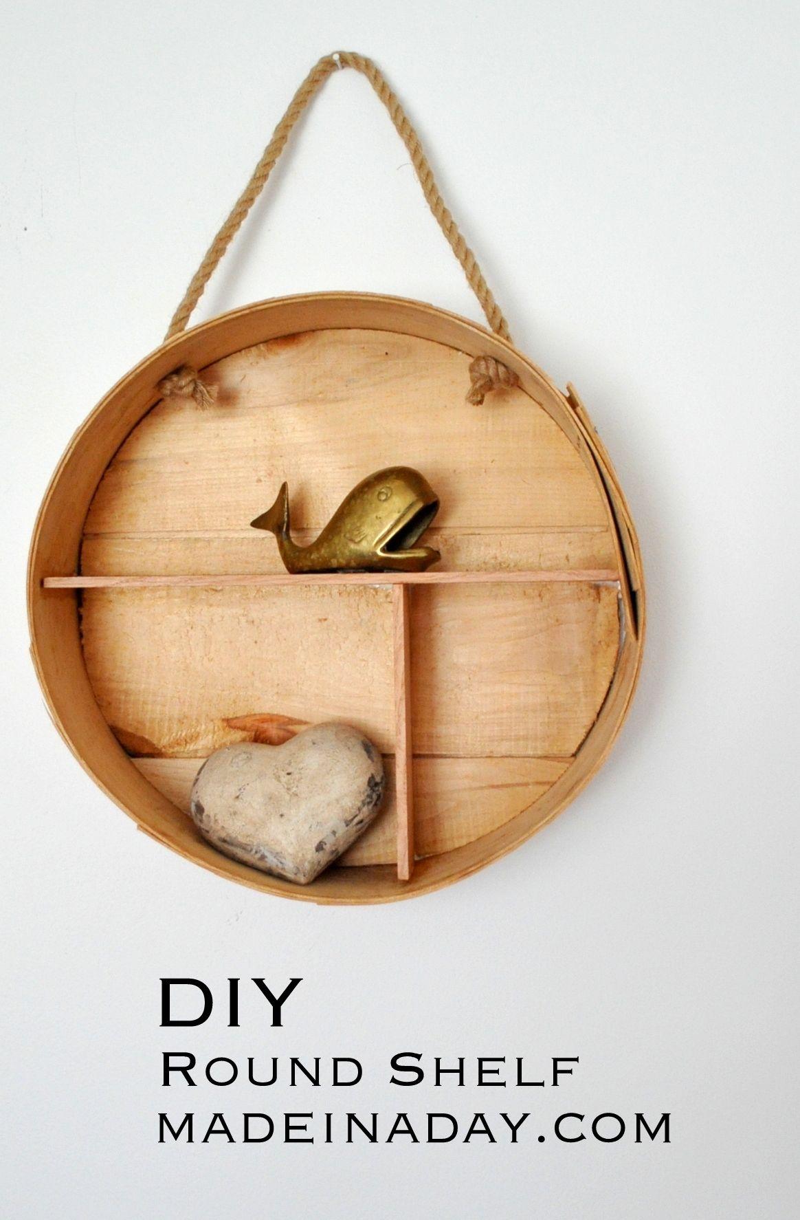 DIY Round Shelf from a Cheese Box, trendy round shelf, cheese box ...