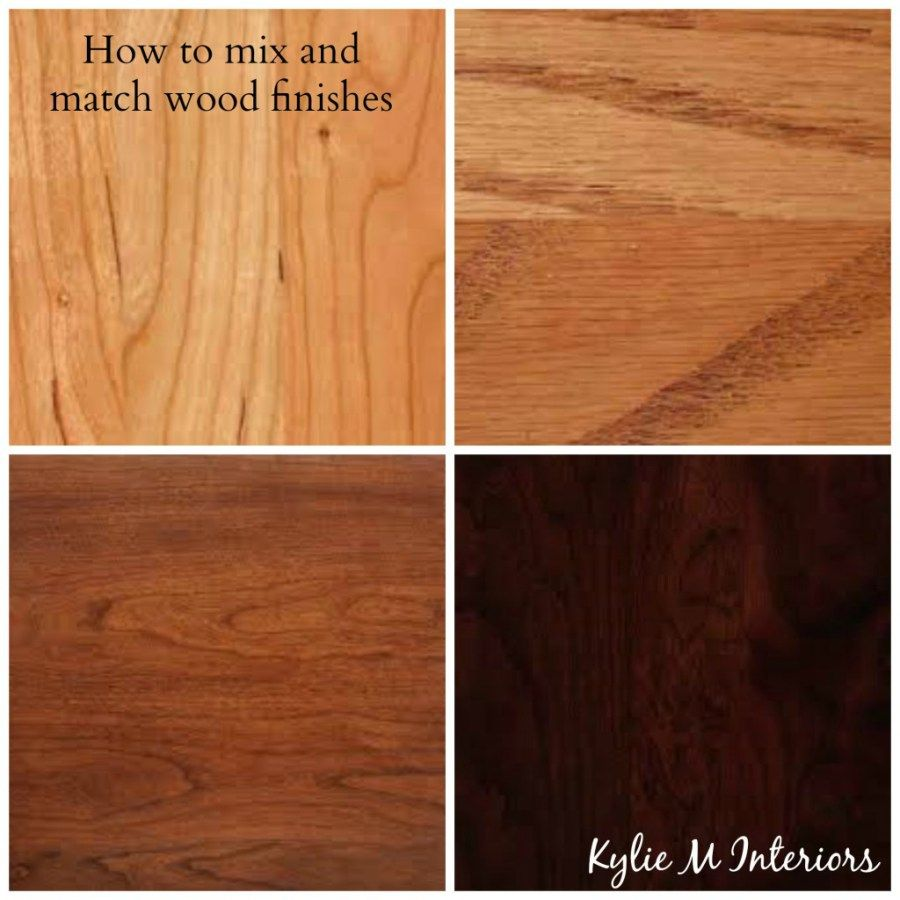 How to mix match and coordinate wood stains undertones for Floors to match cherry cabinets