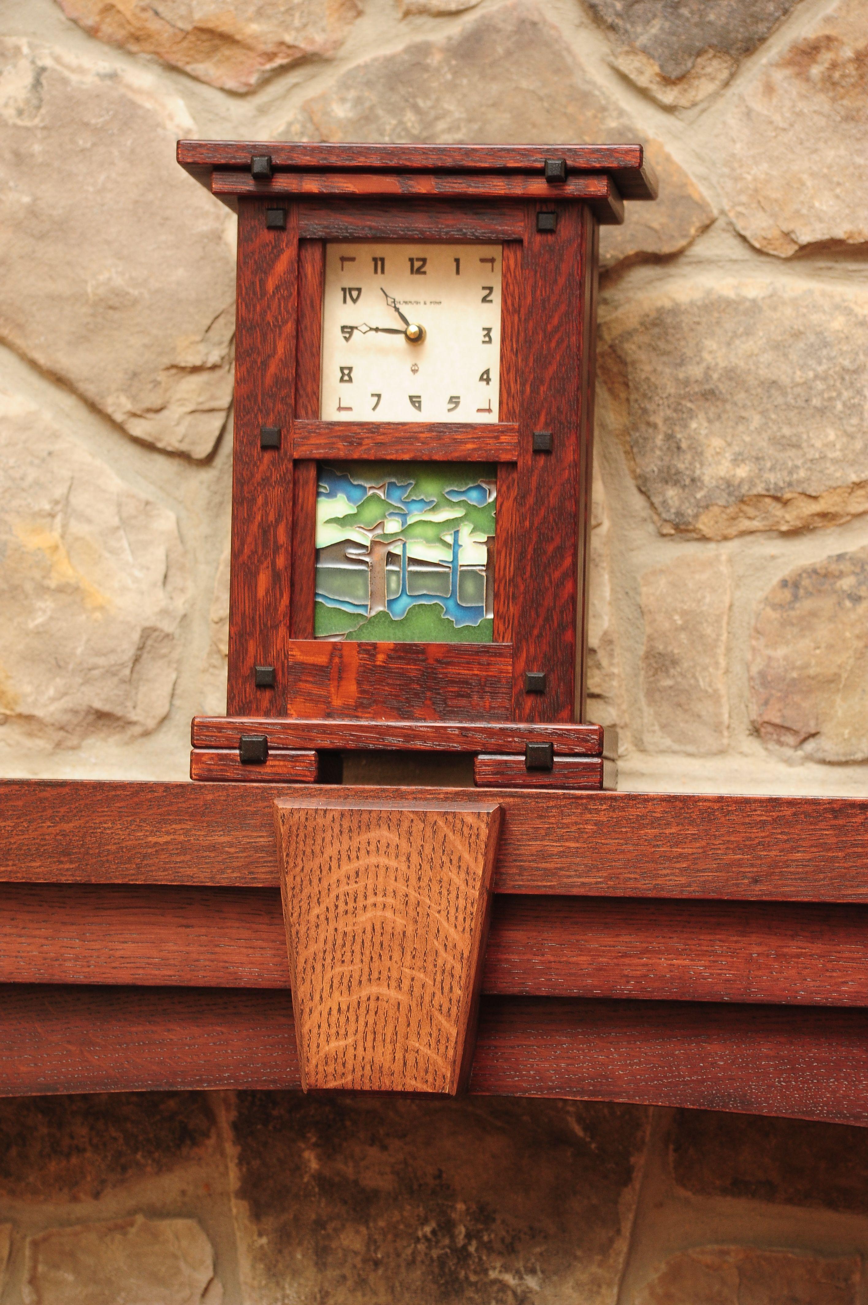 Greene Mantel Clock Craftsman Clocks Decor Style Ideas