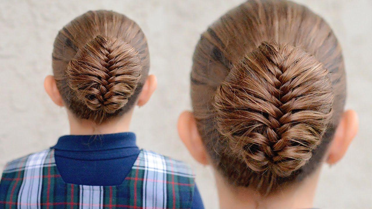 How to create a Fishtail Braided Bun - Dance hairstyles | Little ...