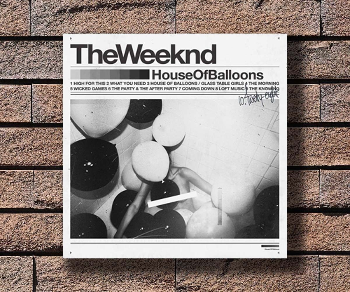 Hot The Weeknd House Of Balloons Music Album Cover Poster 24x24 Art Gift P 129 House Of Balloons Music Album Cover Music Collage