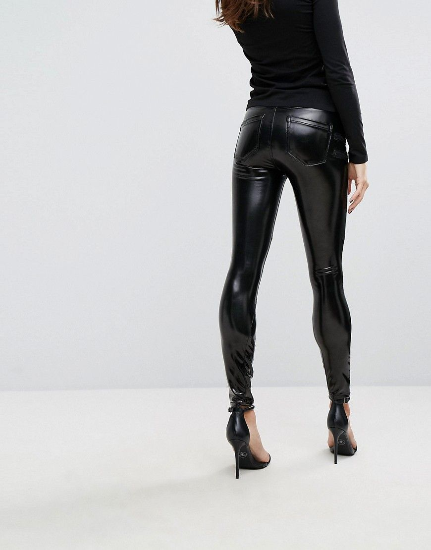 77705a0c9211b2 Blank NYC Vinyl PANTS with Lace Up Front | Latex/Leather Dresses ...