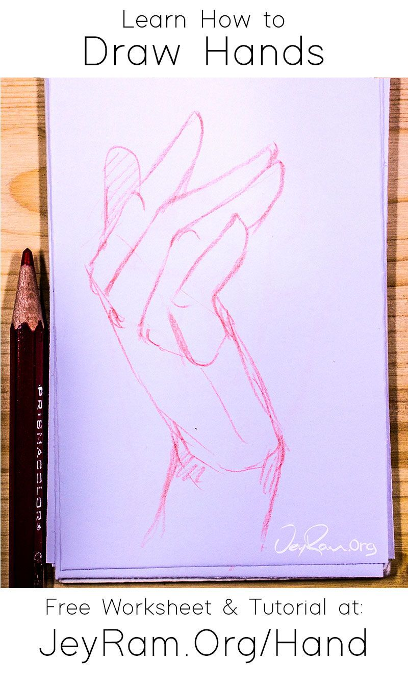 How To Draw Hands Free Worksheet Tutorial In 2020 How To Draw Hands Drawings Drawing Tutorial