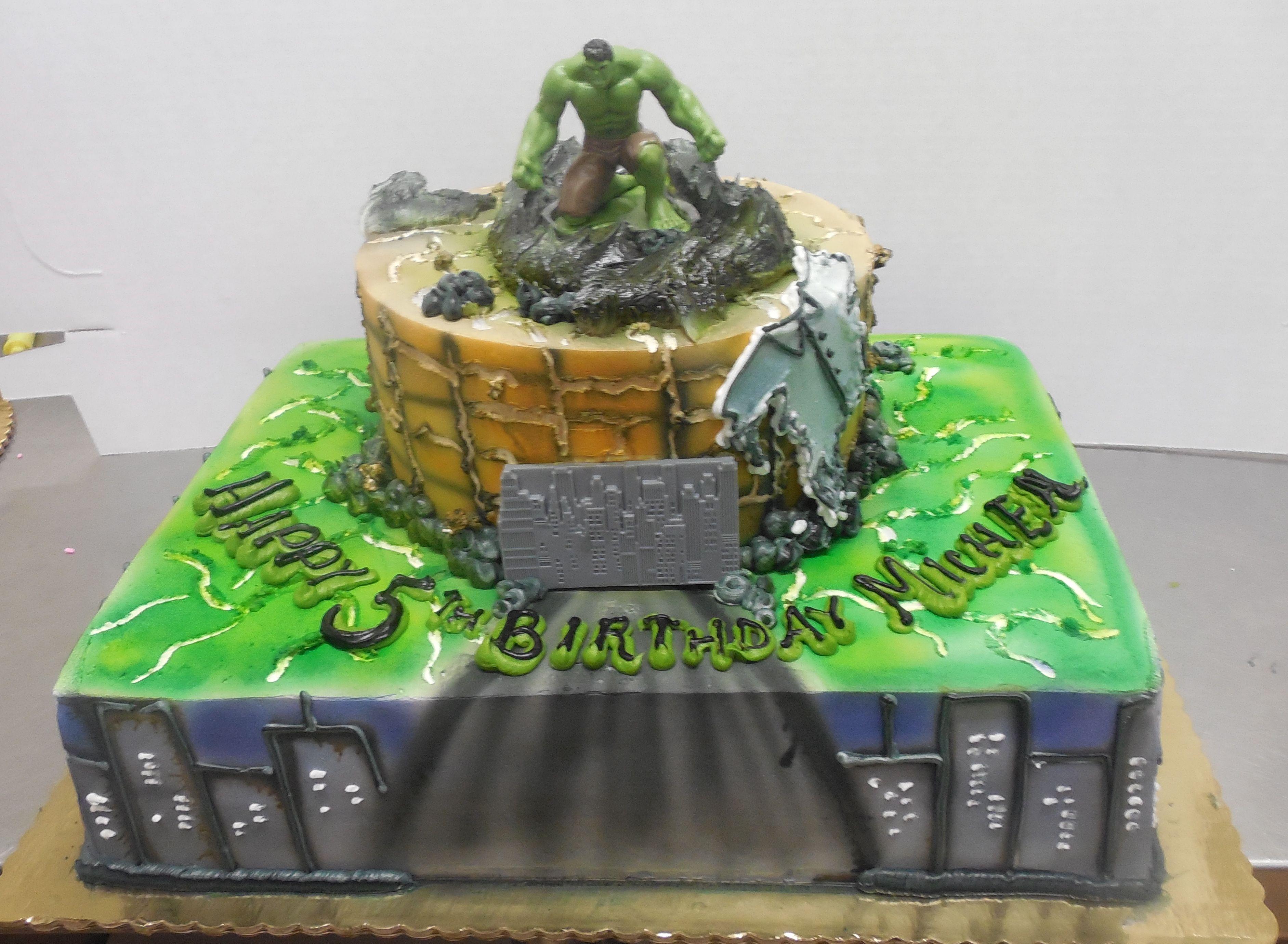 Calumet bakery hulk birthday cake hulk birthday cakes