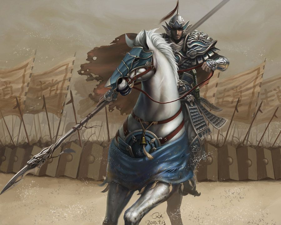 cartoon knight images | Knight in White Horse by ...