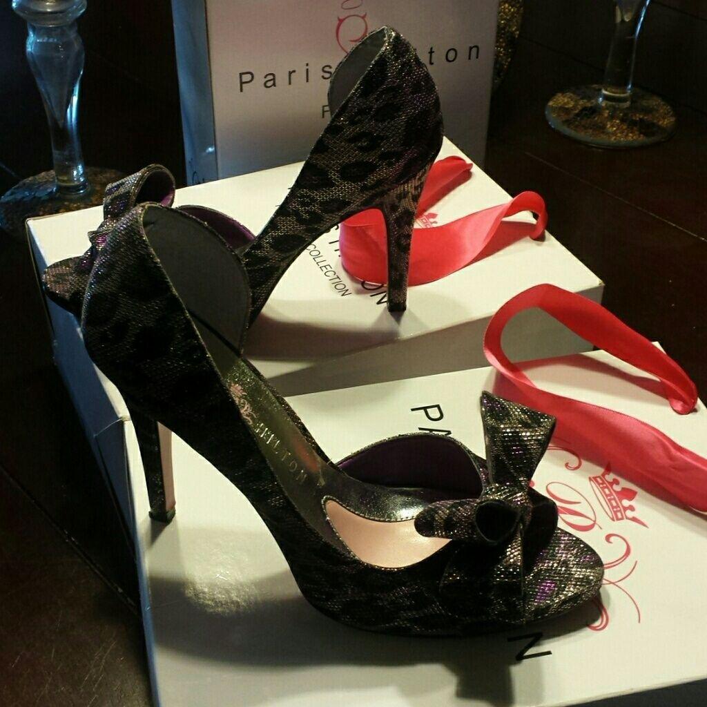 Paris Hilton Silver Purple Black Leppard Design! Paris