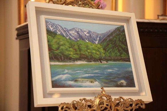 梓川と穂高連峰を描きました|ハンドメイド、手作り、手仕事品の通販・販売・購入ならCreema。