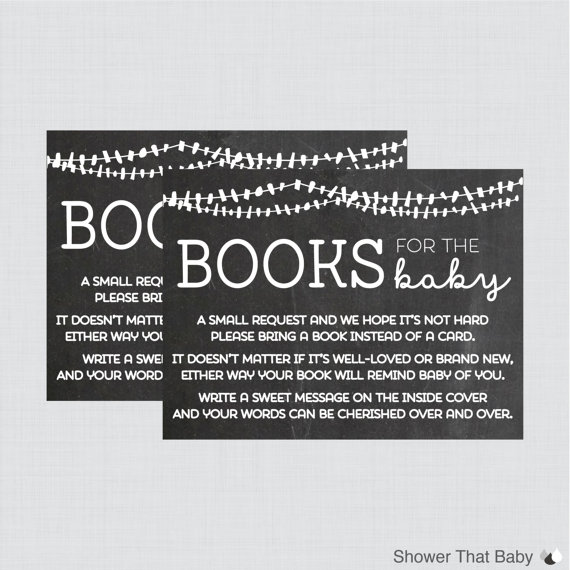 Baby Shower Bring A Book Instead Of A Card By ShowerThatBaby