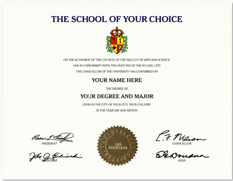 Custom diploma offers you design your self fake Certificates Gold – Graduation Certificate Wording
