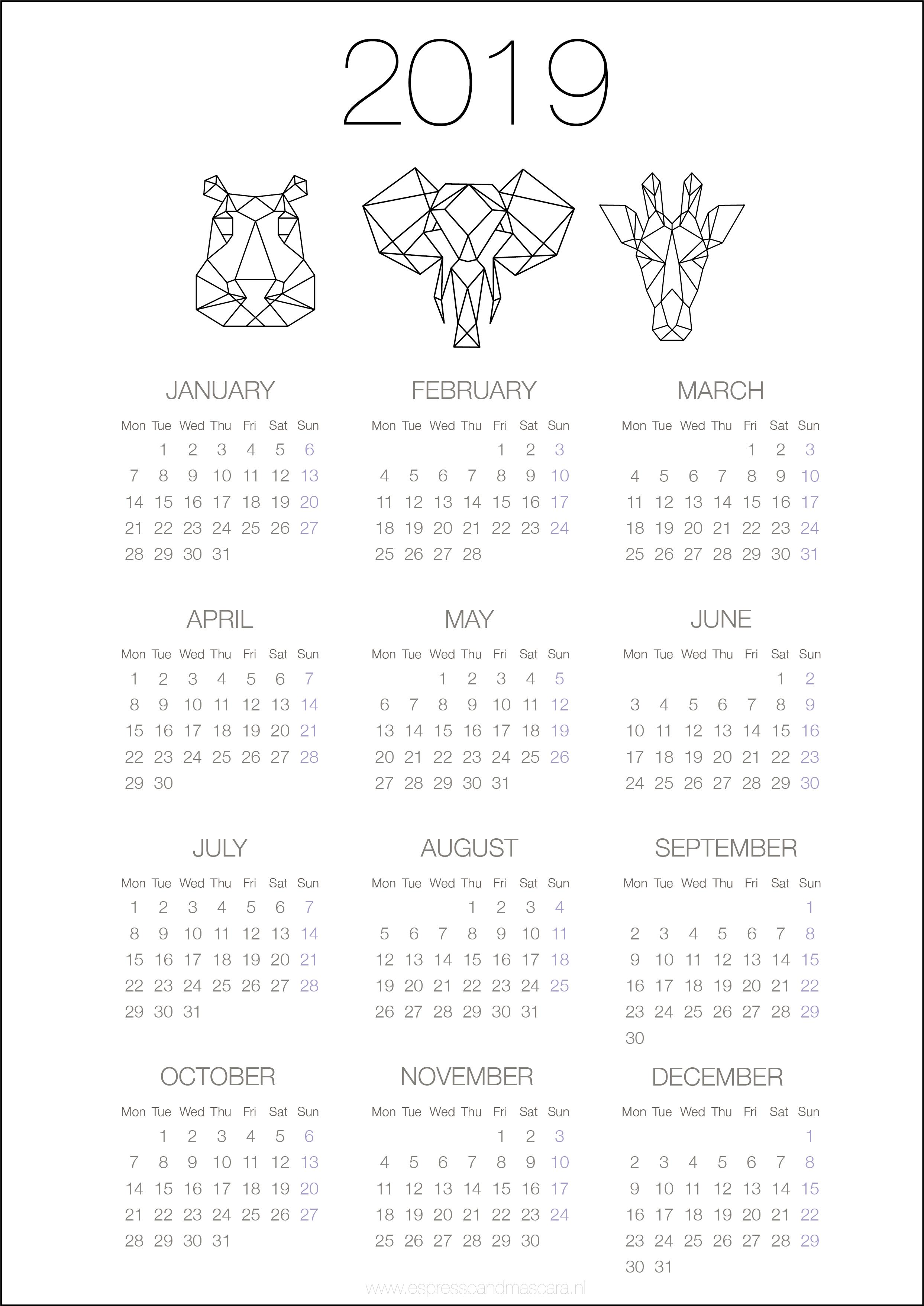 Calendars 2019 Free Download Kalendar Dlya Pechati Planirovshik Raspechatat Planirovshiki