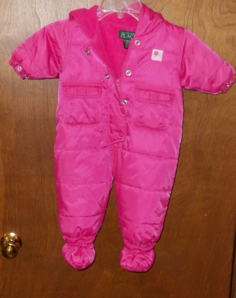 4b79be594 The Childrens Place Infant Girls 6-9 MONTH Winter Coat Bunting PINK ...