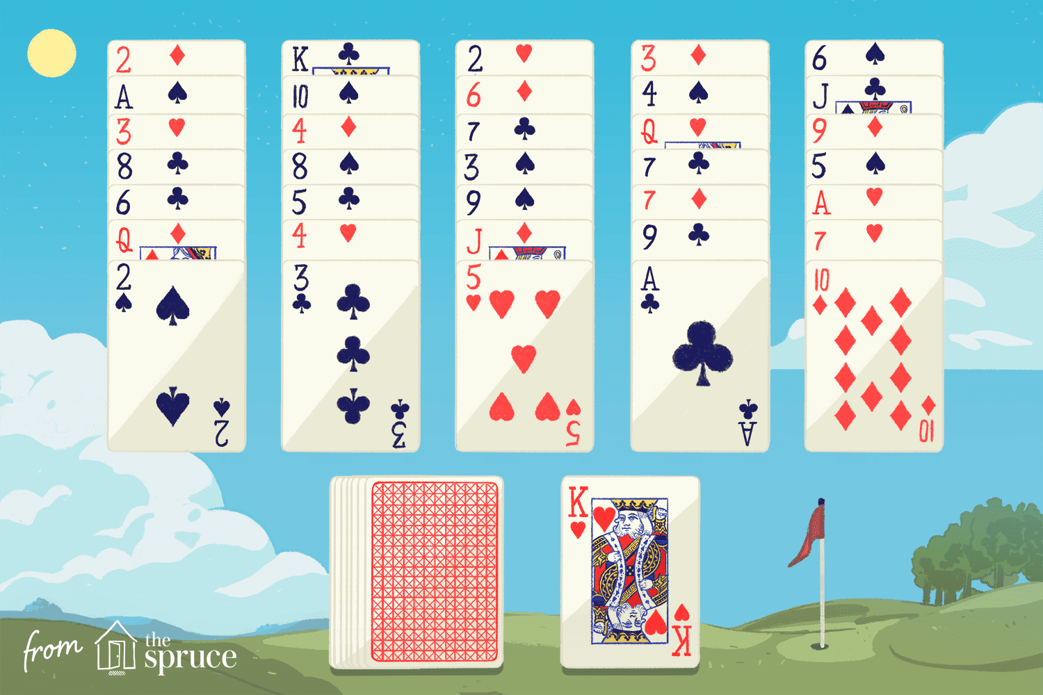 The card game Golf Solitaire derives its name from the