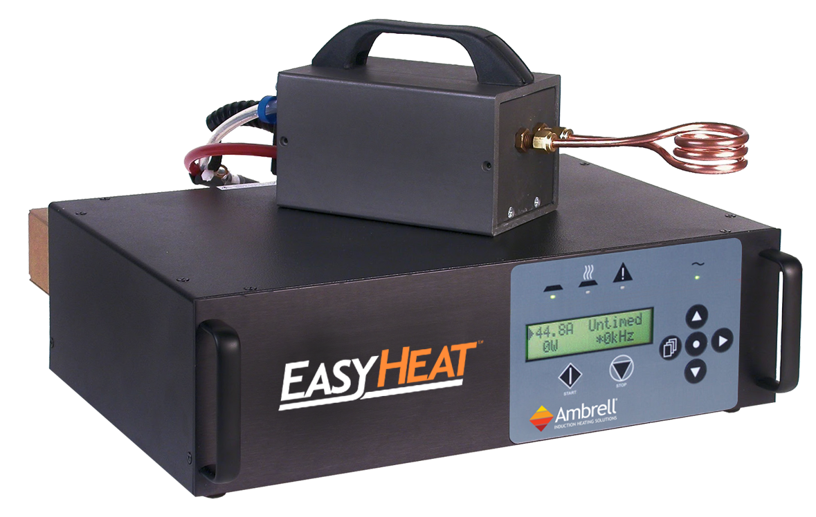 The Ambrell Easyheat 1 2 2 4kw Induction Heating System That Operates Over A Frequency Range Of 150 400khz Ideal F Heating Systems Induction Heating Induction