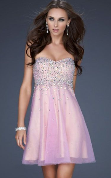 Images of Light Pink Sequin Dress - Reikian