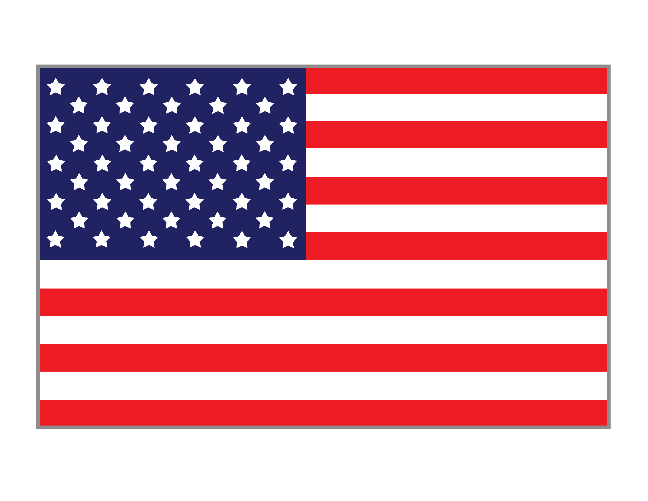 This is an image of United States Flag Printable within free use